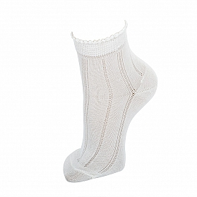 ANKLE OPENWORK SOCKS WITH FANTASY CUFF