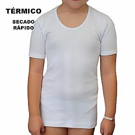 9813 CAMISETA MANGA CORTA TÉRMICA SECADO RÁPIDO NIÑA