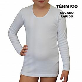 9814 CAMISETA MANGA LARGA TÉRMICA SECADO RÁPIDO NIÑA